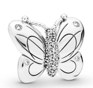Charm-Decorative-Butterfly-With-Crystal-925-Silver-Fit-European-Bracelet