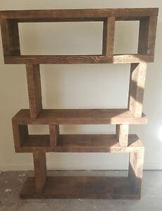 solid wood rustic chunky wooden random shelf bookcase. Black Bedroom Furniture Sets. Home Design Ideas