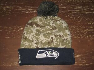 superior quality nice shoes outlet NE (NEW ERA) NFL SEATTLE SEAHAWKS SALUTE TO SERVICE CAMO KNIT POM ...