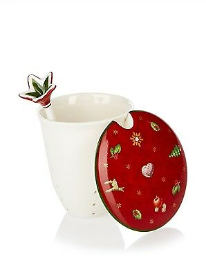 Villeroy & and Boch Christmas TOY'S DELIGHT insert tea strainer & mug cover NEW