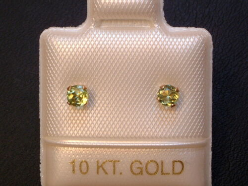 585 Brillantschliff 14 Kt 3 mm Gold Feinste Peridot Ohrstecker Ohrringe