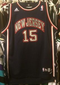Vince-Carter-New-Jersey-Nets-NBA-Adidas-Sewn-Youth-Large-Hwc-Vtg-VC-15-Kidd