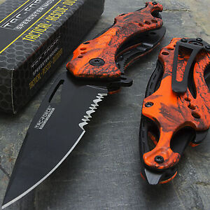 TAC FORCE SPRING ASSISTED TACTICAL OUTDOOR CAMPING FOLDING POCKET KNIFE Blade