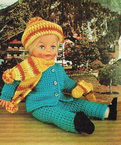 Ropa de muñecas patrón de ganchillo para 12 18 y 20 Pulgadas Muñecas vdoll 182 16 14