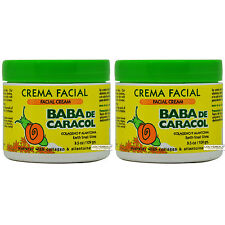 "Baba De Caracol Earth Snail Slime Facial Cream 3.5 Oz. Crema Facial ""Pack of 2"""