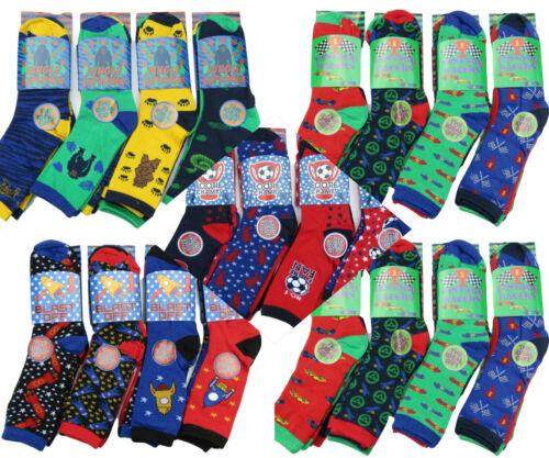 6x Pack Boys Children/'s Kids Socks Designer Character All Size