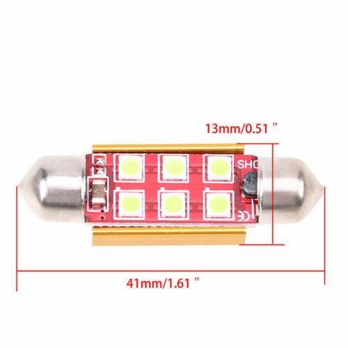 41mm 6SMD 3030 Canbus Error Free Festoon LED Light Bulb Ice Blue 12V for VW Audi