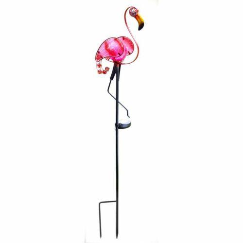 GRANDE LED a energia solare Flamingo Garden Stake LUCE Novità Decorazione Giardino 90cm