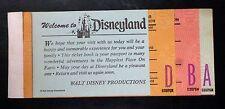 {BJ Stamps} Disney Vintage DISNEYLAND Junior Coupon booklet 70's Tickets
