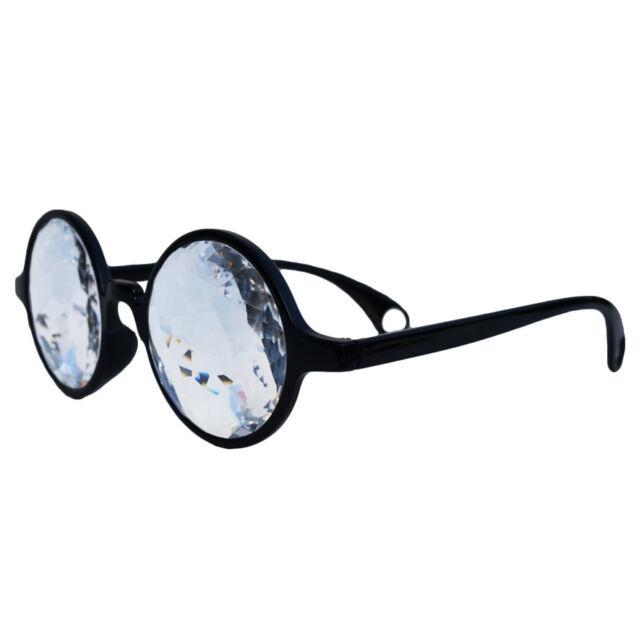 Kaliedoscope Glasses Opticals retro vintage Crystals nerd punk trippy crazy eye