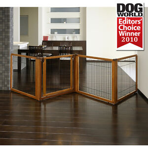 Richell-Convertible-Elite-Freestanding-Pet-Dog-Gate-Room-Divider-amp-Pet-Pen-in-1