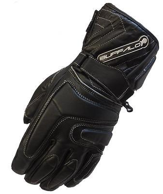 BUFFALO ARCTIC LEATHER WATERPROOF THERMAL WINTER MOTORCYCLE MOTORBIKE  GLOVES