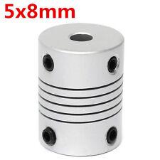 5mm x 8mm Aluminum Flexible Shaft Coupling OD19mm x L25mm CNC Stepper Motor Coup