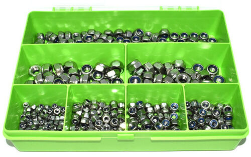 920 ASSORTED A2 STAINLESS STEEL M3 M4 M5 M6 M8 NYLOC NUTS KIT FITS BOLTS SCREWS