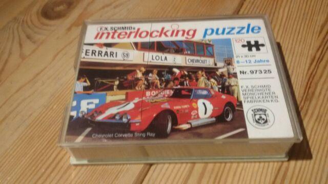 F.X Schmids interlocking puzzle 120 Teile Nr. 97325 Chevrolet Corvette Sting Ray