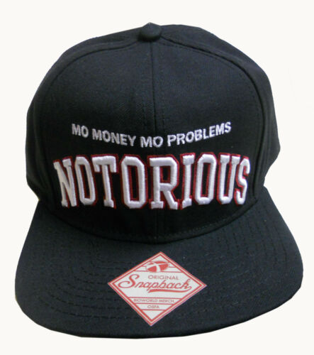 Neuf avec étiquettes BROOKLYN Comme neuf Notorious BIG BIGGIE SMALLS Mo Argent Mo Problems Ajustable Casquette