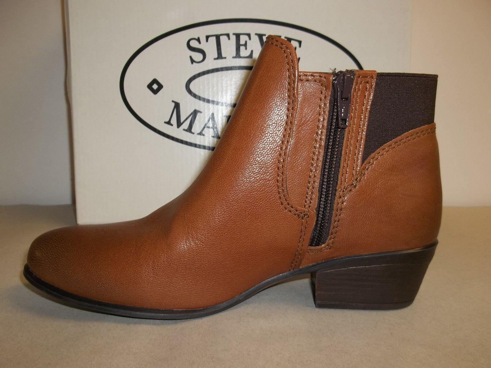 Steve Madden Größe 6 M Rozamare Dark Cognac Leder Ankle Stiefel NEU Damenschuhe Schuhes