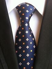 073KT men silk neck tie blue gray stripe waterproof formal wedding party ties