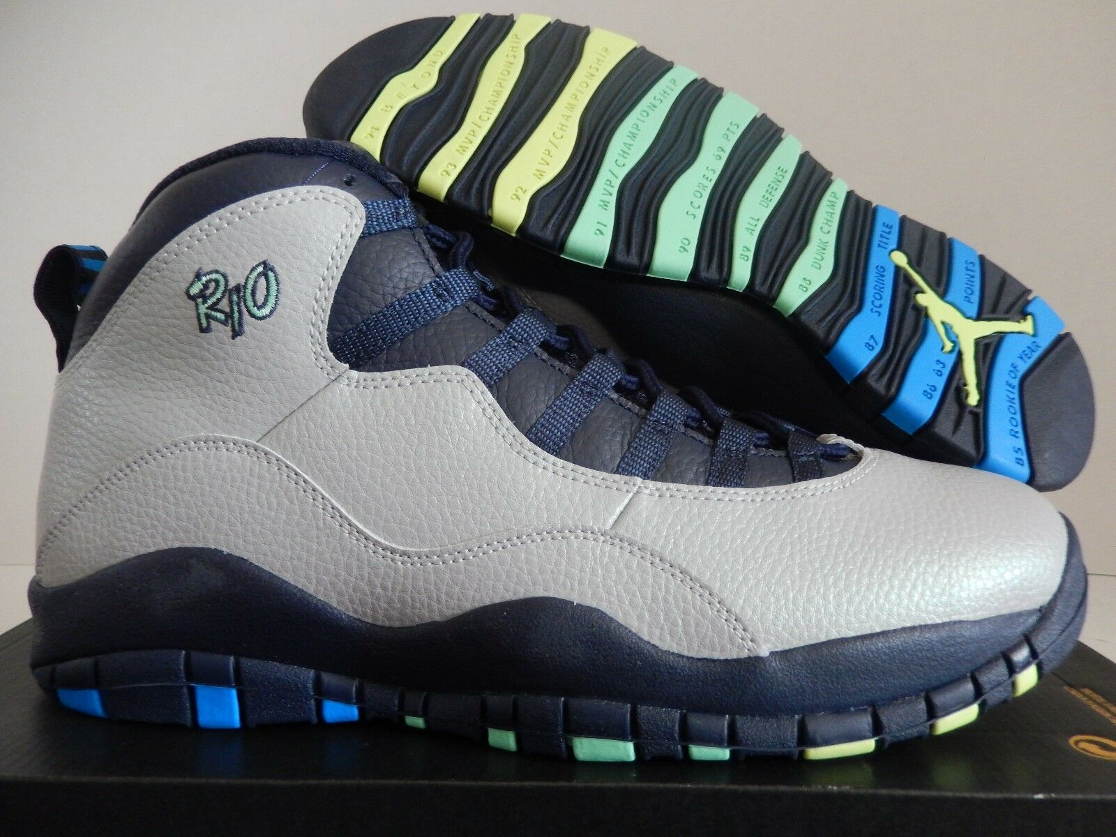 NIKE RIO AIR JORDAN RETRO 10 RIO NIKE CITY PACK WOLF GREY-PHOTO BLUE SZ 10.5 [310805-019] c75e94