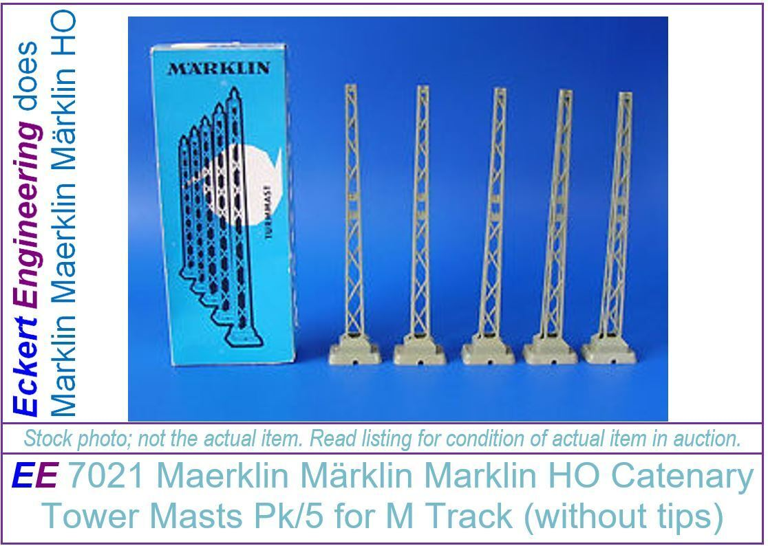EE 7021 NEW Marklin Old Style Catenary Tower Masts Pk/5 without Finale  Tips