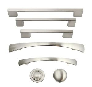 Details About Brushed Satin Nickel Kitchen Cabinet Hardware Knobs Pulls Handles Hardware