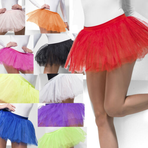 Tutu Underskirt 4 Layers 30cm Long Petticoat Womens Fancy Dress Costume