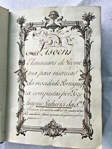18th-C-Handwritten-Manuscript-Geometry-Mathematics-book-King-Jose-I-Illustrated