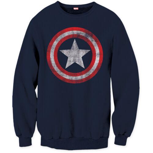 Captain Men's America Sweatshirt Distressed Shield Logo Pullover wn6wvxAPq