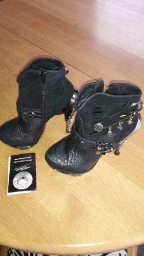 Python Wildleder Schwarz Neu Damen M New c2 37 Stiefelette Rock Gothic mag032 Gr Ygvfb76y