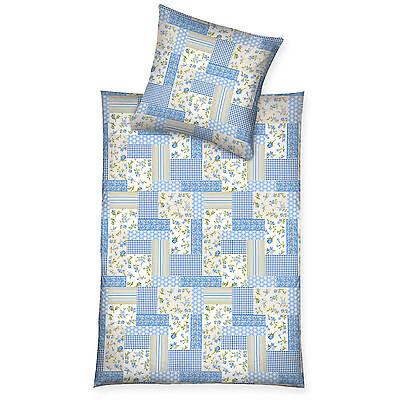 Diskret 3 Tlg ln 614 äRger LöSchen Und Durst LöSchen BettwÄsche Microfaser Bettlaken Blau Patchwork Blau Creme Neu