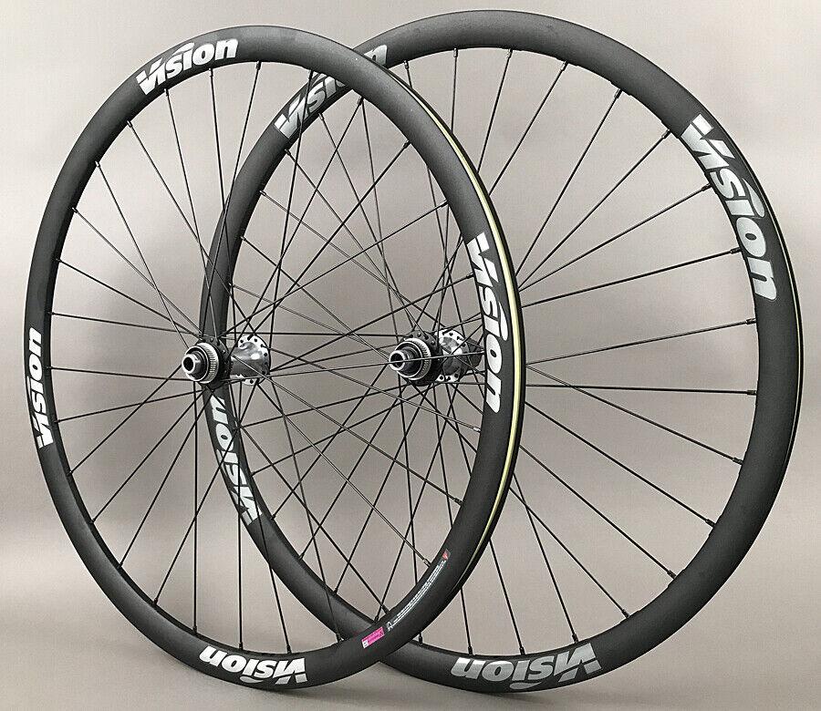 Image 2 - Vision-Trimax-Gravel-CX-Bike-Wheelset-Shimano-Ultegra-Hubs-12mm-Thru-Disc-Brake