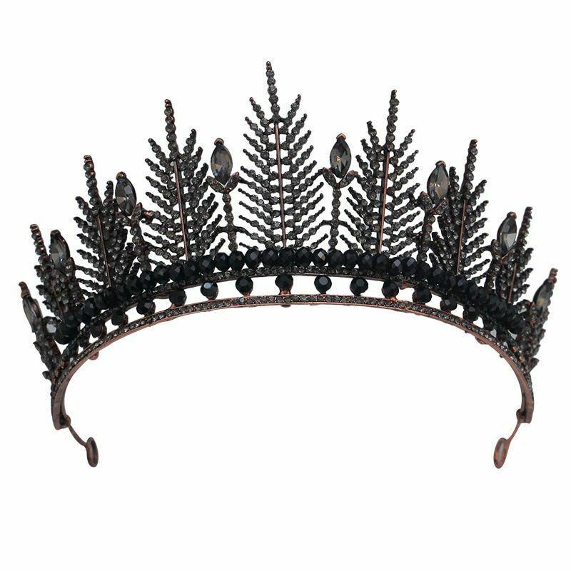Tiaras Crowns Noble Rhinestone Diadem Veil Tiara Headband Wedding Hair Accessory