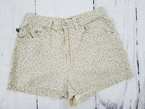 Polo-Jeans-Ralph-Lauren-Shorts-Womens-Sz-6-Cream-Blue-Floral-Linen-Cotton-Casual