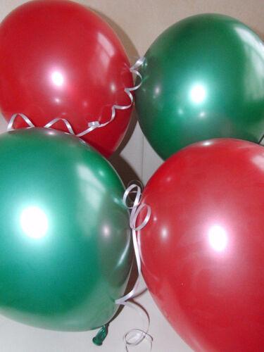 "12/"" Red /& Green Polka Dot Plain Pearl Christmas Theme Latex Balloons X-mas baloo"
