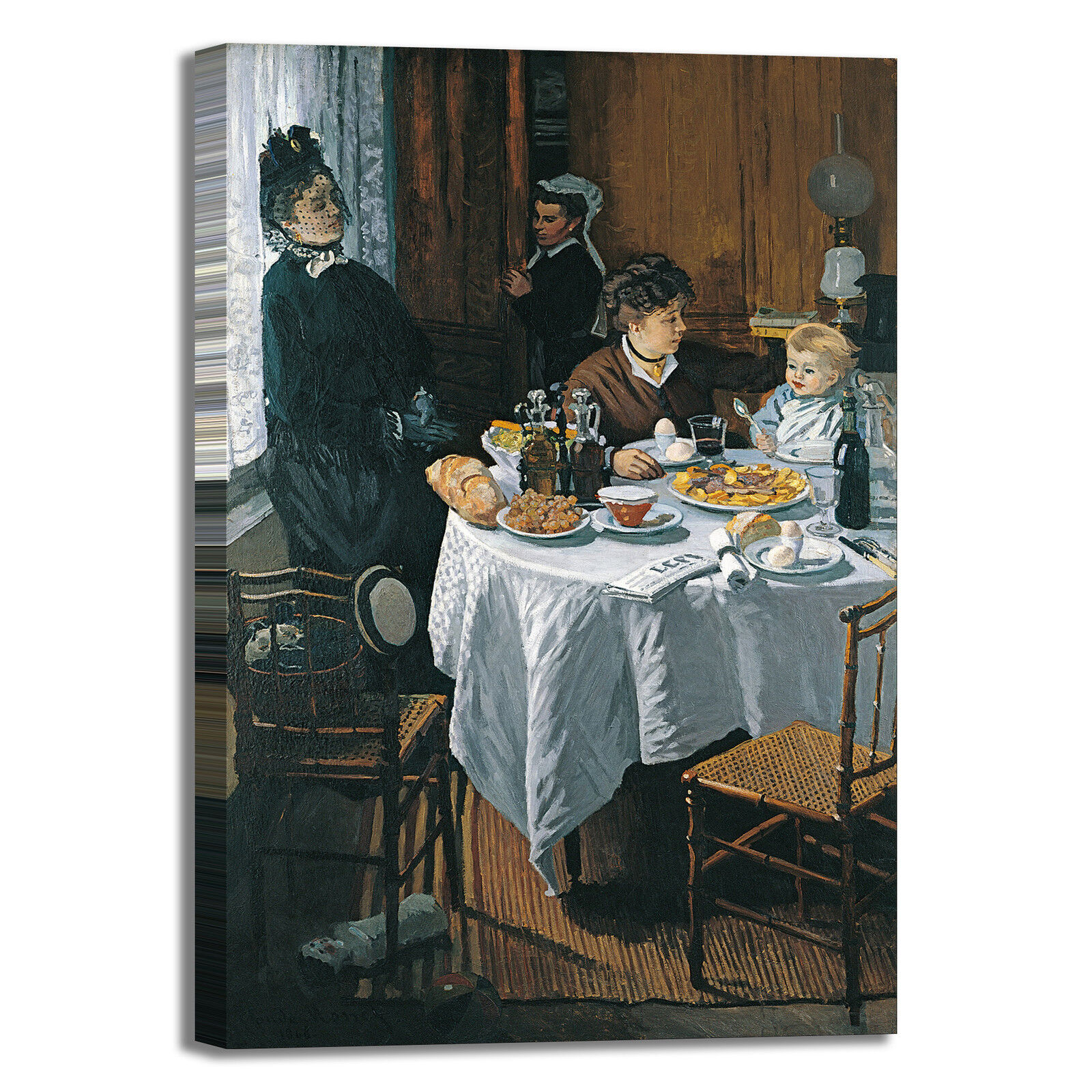 Monet il pranzo design quadro stampa tela dipinto telaio arroto casa
