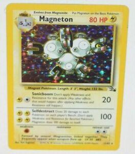 Magneton Pokemon Fossil Set Trading Card Holo Rare 11/62 TCG Game