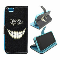 Women Men Leather Wallet Phone Accessory Cover Flip Case For Apple iPhone 5 5S