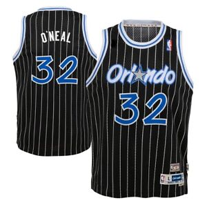 a5fe9b7e Orlando Magic Shaquille O'Neal Youth Black Swingman Stitched Jersey ...