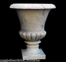 Grande Vaso in Marmo Bianco Carrara Arredi Classici per Esterni Big Marble Vase
