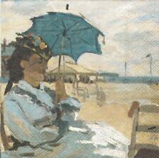 Lot de 2 Serviettes en papier Monet Sur la plage à Trouville Decoupage Decopatch