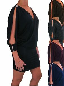ICE Womens Chiffon Bodycon Mini Dress for Clubbing Party 8-16