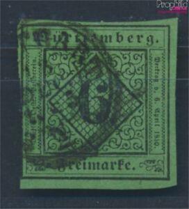Wurttemberg-3b-finamente-B-calidad-examinado-usado-1851-digitos-en-rom-7693501