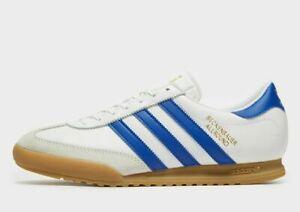 ADIDAS-Originals-Da-Uomo-Beckenbauer-Trainers-in-Bianco-e-Blu