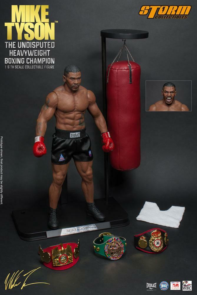 BOXING CHAMPION  MIKE TYSON 1 6 Acción Figura 12″ STORM COLLECTIBLES