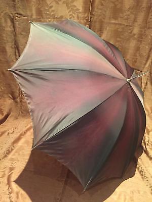 Fedele Ombrellino Parasole Marca Luxor In Nylon Color Fango Anni '50 Vintage Alleviare Il Caldo E Il Colpo Di Sole