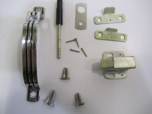 "VTG MCM NOS /""Reversible Cabinet Push Catch/"" Nat Brass Co Drawer//Door Handle Kit"