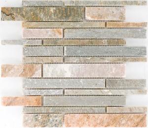 Das Bild Wird Geladen Naturstein Mosaik Quarzit Beige Wand Boden Bad  Fliesenspiegel