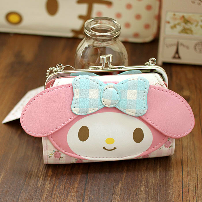 103ea0f3d Details about Hello kitty My Melody mini PU Purse Clutch Wallet Coin Bag