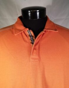 REI-Shirt-UPF-50-Orange-Short-Sleeve-Polo-Men-039-s-Large