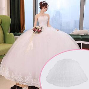 Petticoat-Unterrock-6-Hoop-Kleid-Unterkleid-Reifrock-Ringe-Brautkleid-Krinoline